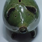 Green Piggy Bank - attribute to Futurilla