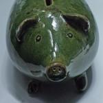 Green Piggy Bank - attribute to Futurilla