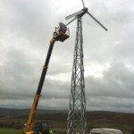 Installation of Pennine Community Power wind turbine